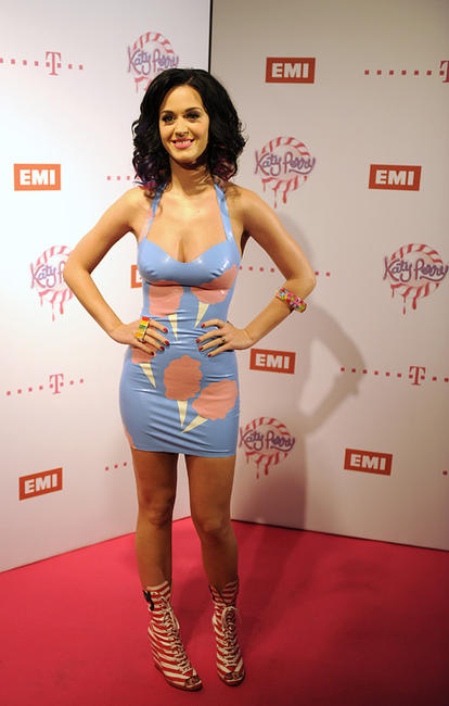 Katy Perry at the Postbahnhof arena in Berlin.