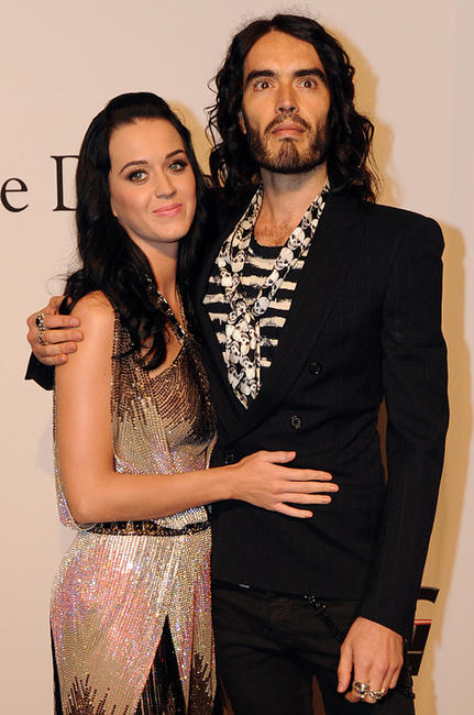 Katy Perry and Russell Brand at the Pre-Grammy Gala in Beverly Hills.