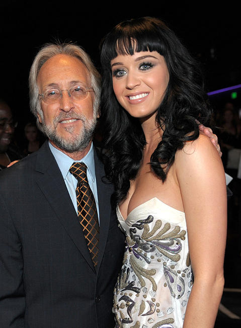 Neil Portnow and Katy Perry at the GRAMMY Nominations Concert Live.