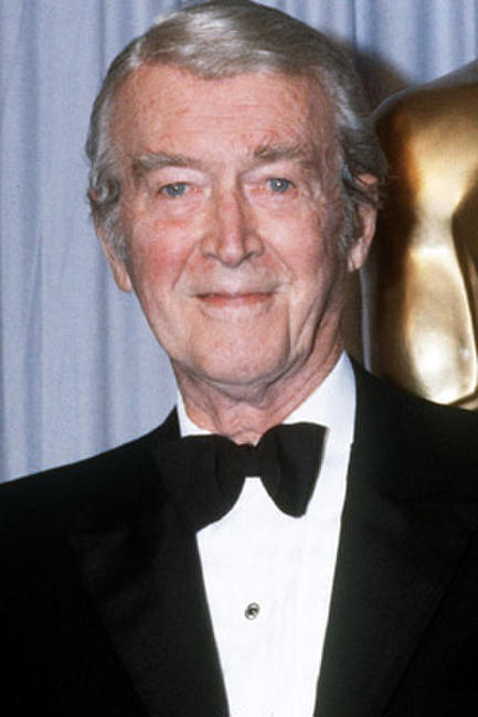 James Stewart at the 57th Annual Academy Awards in Hollywood.