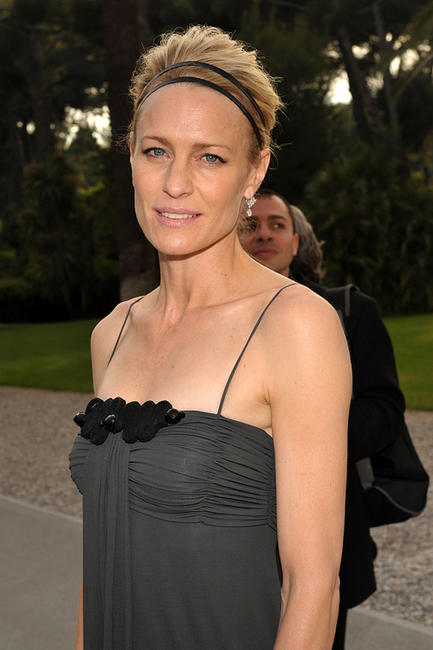 Robin Wright at the amfAR Cinema Against AIDS cocktail party during the 62nd Annual Cannes Film Festival.