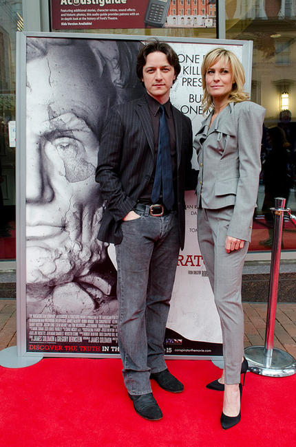 James McAvoy and Robin Wright at the premiere of