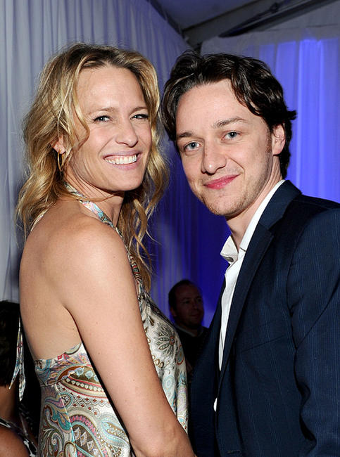 Robin Wright and James McAvoy at the after party of the premiere of