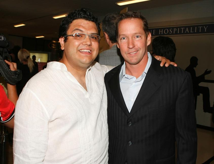 Director Alfredo De Villa and D.B. Sweeney at the Los Angeles premiere of