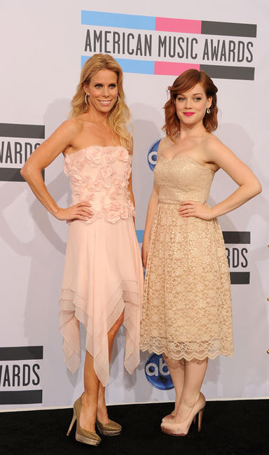 Cheryl Hines and Jane Levy at the 2011 American Music Awards in California.