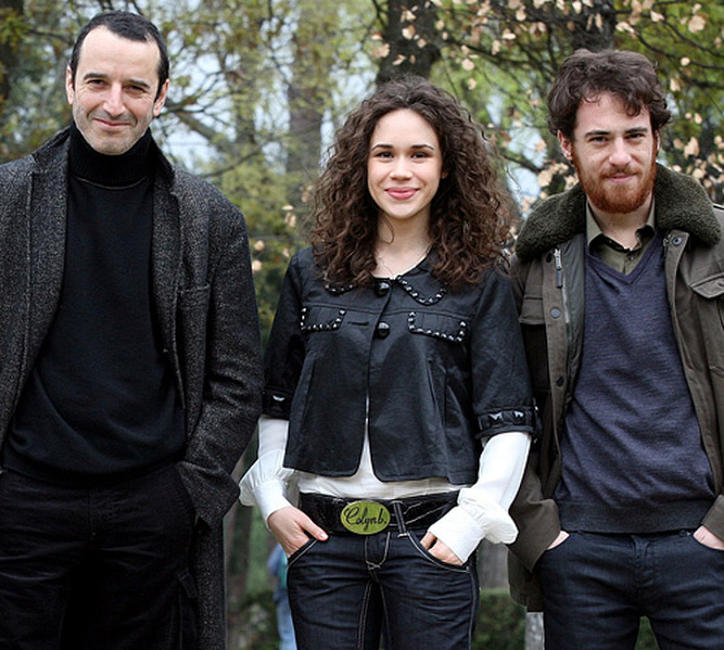 Bruno Todeschini, Mimosa Campironi and Elio Germano at the photocall of
