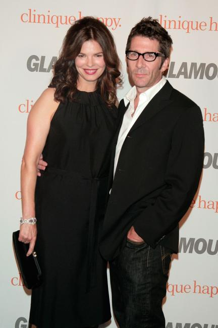 Jeanne Tripplehorn and husband Leland Orser at the Glamour Reel Moments party held at the Directors Guild of America.