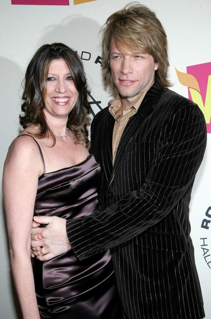 Jon Bon Jovi and his wife Dorothea at the 20th Annual Rock And Roll Hall Of Fame induction ceremony.