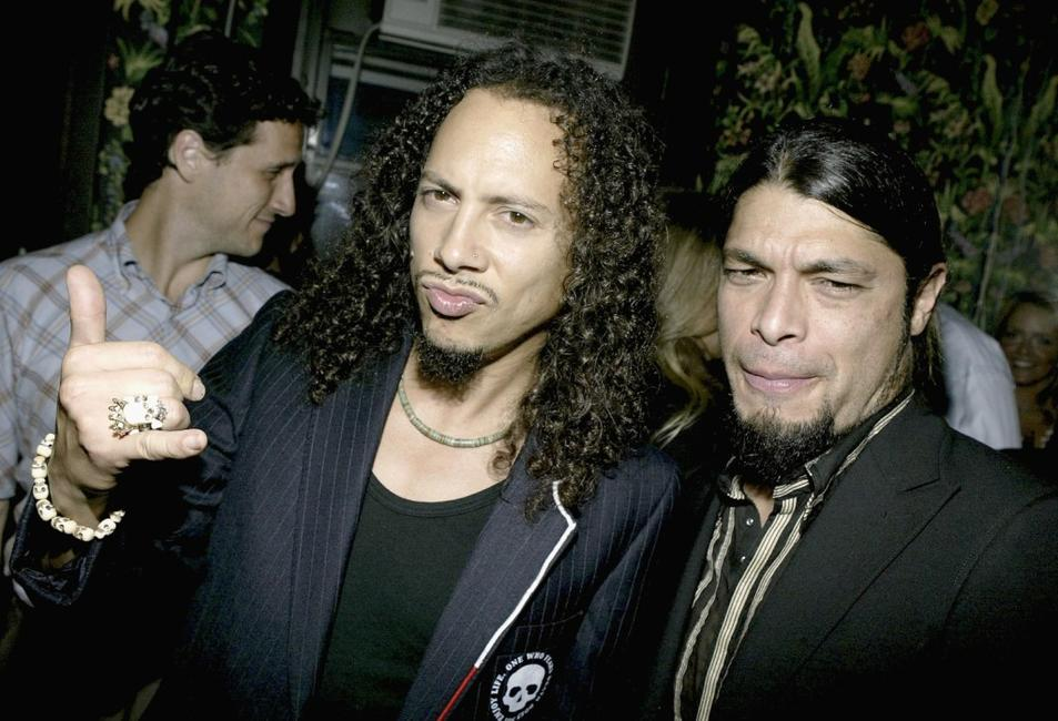 Kirk Hammett and Robert Trujillo at the after party of the premiere of