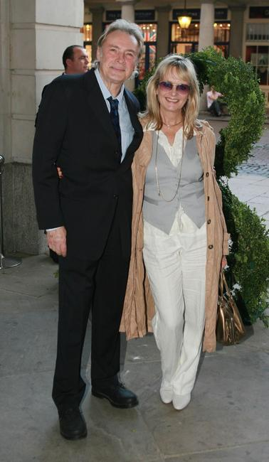 Twiggy and husband Leigh Lawson at the Marks and Spencer Autumn/Winter previews 2007.