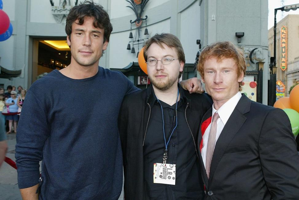 Tony Daly, director Sven Pape and Zack Ward at the world premiere of