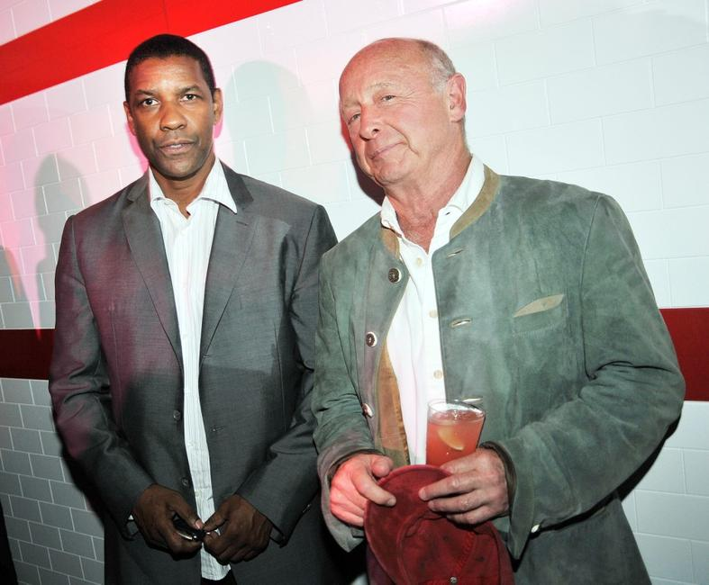 Denzel Washington and Director Tony Scott at the after party of the California premiere of