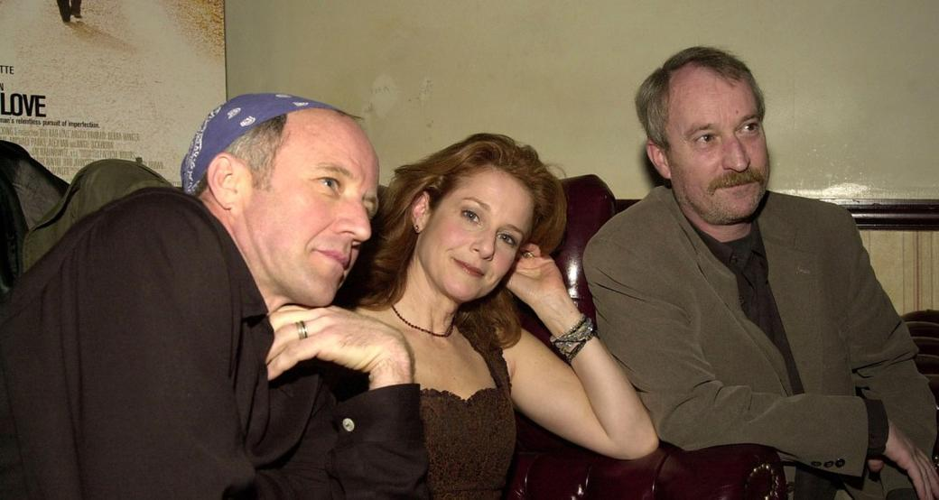 Debra Winger, Arliss Howard and Larry Brown at a party of the IFC Films Release