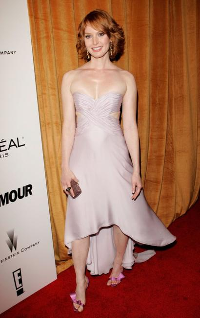 Alicia Witt at the Weinstein Co. Golden Globe after party.