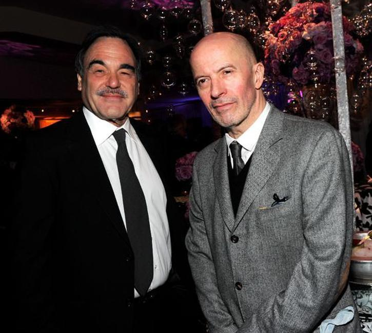 Director Oliver Stone and Jacques Audiard at the 82nd Annual Academy Awards Foreign Language Film Award Directors Reception.