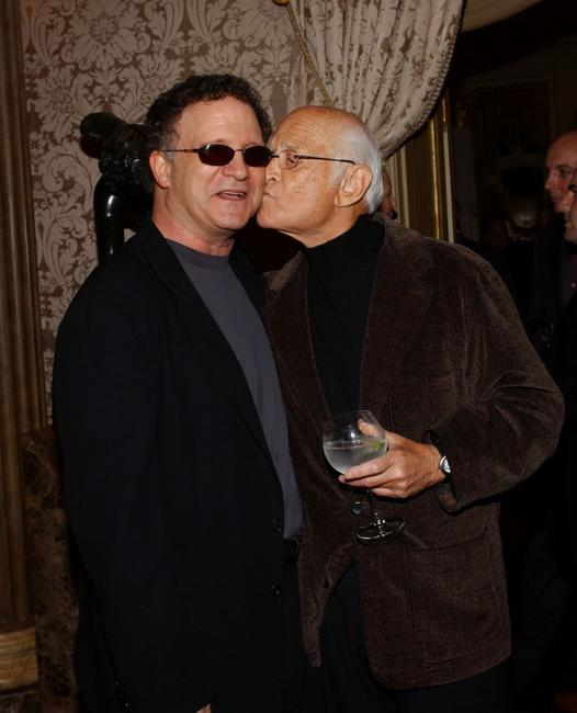 Albert Brooks and Norman Lear at the launch party for Arianna Huffingtons new book
