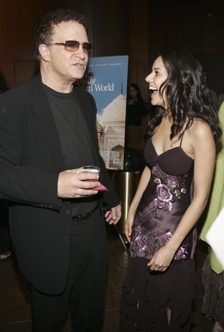 Albert Brooks and Sheetal Sheth at the afterparty for the Los Angeles premiere of the film