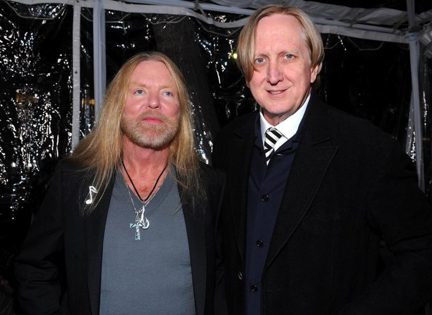 Greg Allman and T-Bone Burnett at the premiere of
