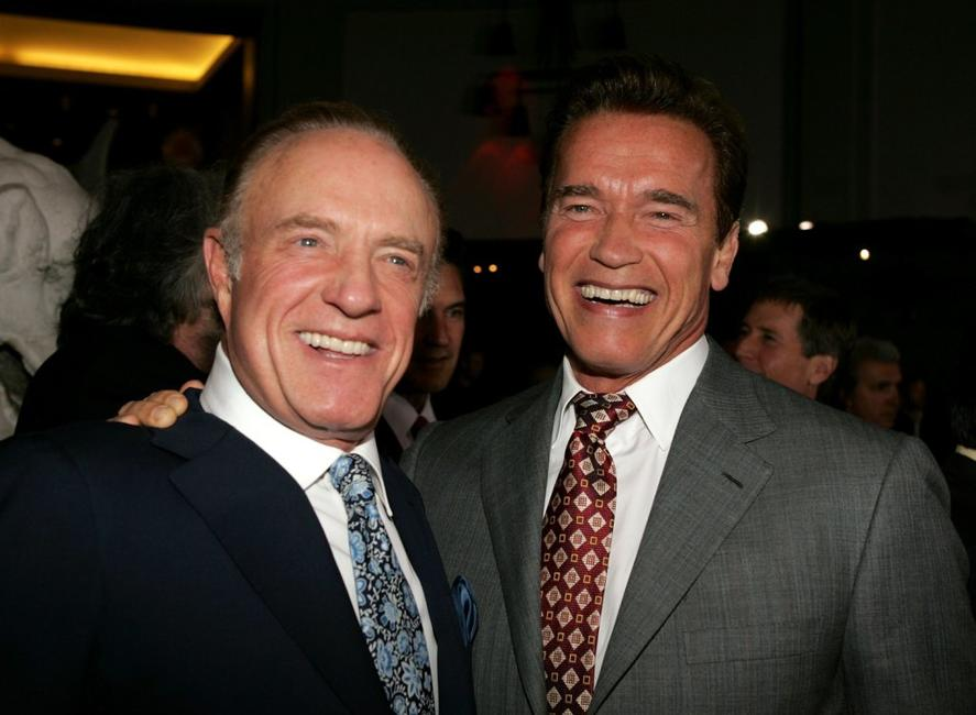 James Caan and Arnold Schwarzenegger at the Grauman?s Chinese Theater for the premiere of MGMs