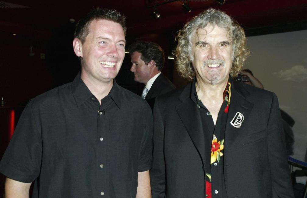 Billy Connolly and Cameron at the premiere of