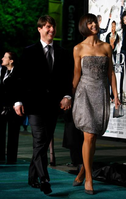 Tom Cruise and his wife Katie Holmes at the California premiere of