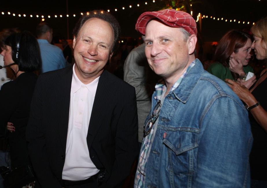 Billy Crystal and Bobcat Goldthwait at the premiere of Warner Bros. Pictures