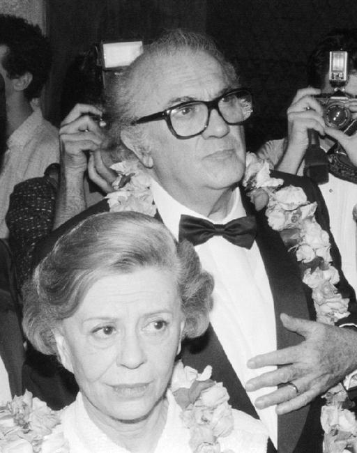 Federico Fellini and his wife Giulietta Masina at