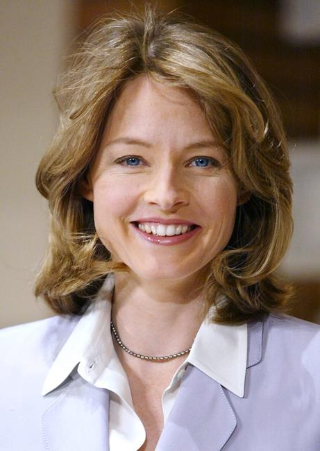 Jodie Foster at the conference to promote