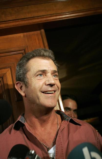 Mel Gibson at the Costa Rica's president's house.