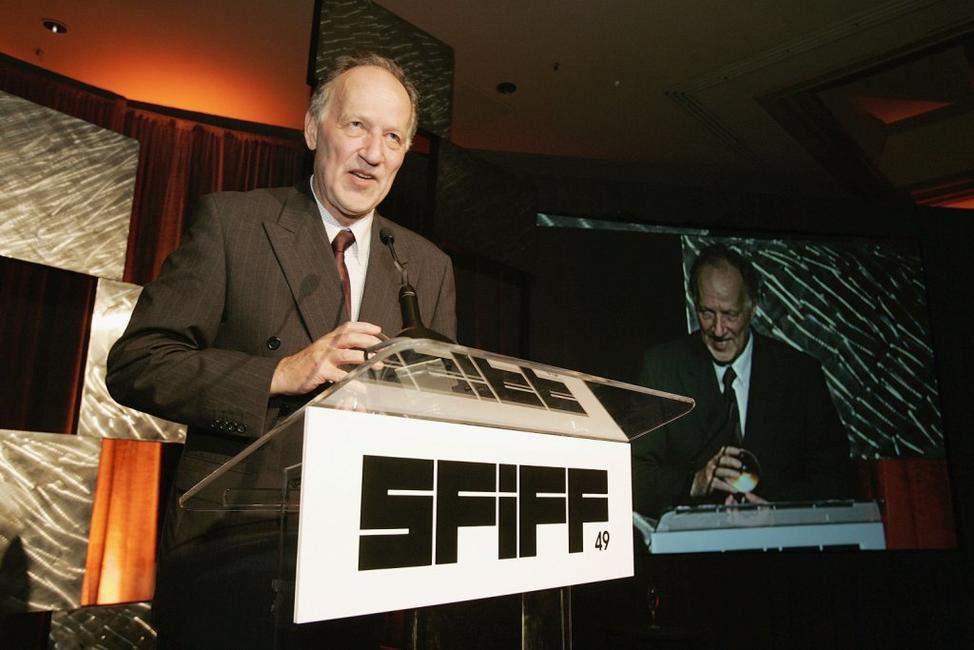 Werner Herzog at the 49th San Francisco International Film Festival awards ceremony.