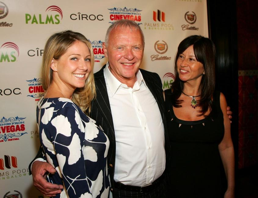 Anthony Hopkins, wife Stella Hopkins and Lisa Pepper at the 2007 CineVegas film festival awards.