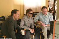 Nicolas Cage, producer Jerry Bruckheimer and director Jon Turteltaub on the set of