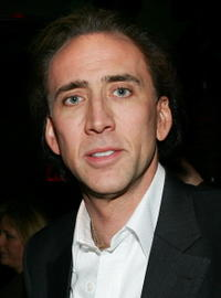 Nicolas Cage at the world premiere of