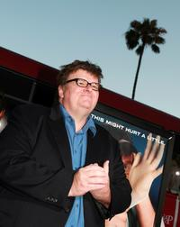 Michael Moore at a special screening of