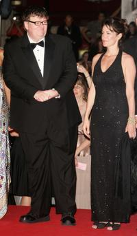 Michael Moore and Meghan O'Hara at the premiere of the movie