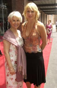 Robyn Nevin and Angie Milliken at the official opening of