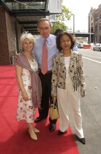 Robyn Nevin, Bob Carr and Helen at the opening of the