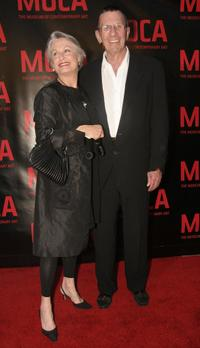 Leonard Nimoy and his wife Susan at the opening gala for Robert Rauschenberg Exhibition.