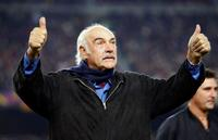 Sean Connery at the Camp Nou stadium during the friendly match between FC Barcelona and The Peace Team.