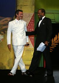 Sidney Poitier and Vincent Cassel at the World Premiere of