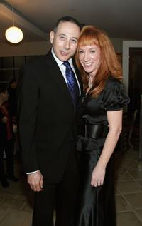 Paul Reubens and Kathy Griffin at the Kathy Griffin's Annual Christmas Cocktail Bash Benefiting Toys For Tots.