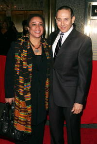 Paul Reubens and Epatha Merkerson at the Broadway opening of