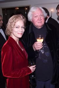 Ken Russell and his wife at the Evening Standard Film Awards in the Savoy Theatre, London.