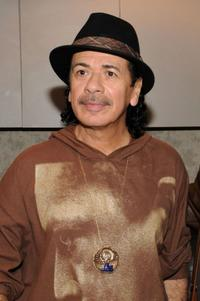 Carlos Santana at the private reception at Madison Square Garden in New York.