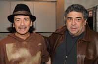 Carlos Santana and Vincent Pastore at the private reception at Madison Square Garden in New York.