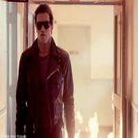 Arnold Schwarzenegger as The Terminator in ``The Terminator.''