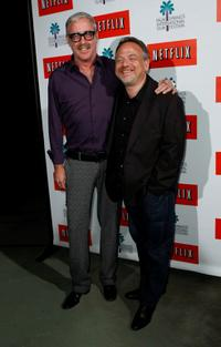Marc Shaiman and Scott Wittman at the Outdoor Sing-Along screening of