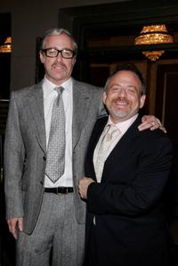 Scott Wittman and Marc Shaiman at the Broadway opening of