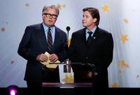 Martin Sheen and Emilio Estevez at the 12th Annual Critics Choice Awards held at the Santa Monica Civic Auditorium.