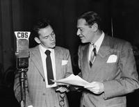 Frank Sinatra and Marx Loeb at the performance on